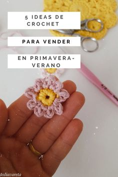 5 ideas de crochet para vender en primavera- verano - Mi Mediavareta Ravelry, Crochet Earrings, Ideas, Craft Gifts, Baby Tuxedo, Jute Bags, Patterns, To Sell