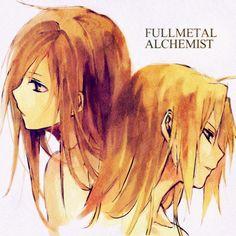 Full Metal Alchemist! The 2 brothers, Edward & Alphonse Elric!!