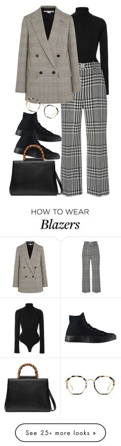 """Stadium arcadium a mirror to the moon..."" by moon-and-sun on Polyvore featuring Khaite, Zuhair Murad, STELLA McCARTNEY, Converse, Gucci and Bailey Nelson"