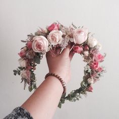 Pink Flower Crown // www.thecrowncollective.co