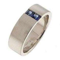sapphire ring for men - Mens Sapphire Wedding Rings