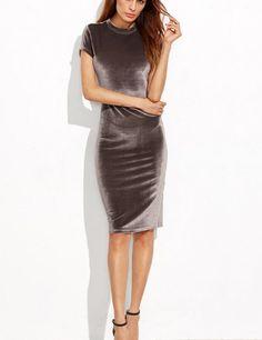 Women s Sheath Dress in mink velvet is a great addition to your winter  wardrobe Elegant Dresses 7e89dba00