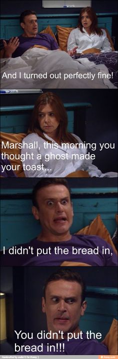 Marshall is so superstitious 😄 How I Met Your Mother, Tv Show Quotes, Movie Quotes, Big Bang Theory, Himym Memes, Percy Jackson, Ted Mosby, Mothers Friend, Comedy Tv