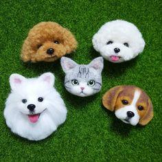 Needle Felted Animals, Felt Animals, Needle Felting, Cute Animals, Dog Crafts, Felt Crafts, Felt Dogs, Animal Faces, Baby Furniture