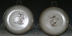 2 @ ESTHER MARSHALL SILLS CERAMIC PLATES - Sills was an American Studio potter who was part of the influential Ohio 'Cleveland School', a group of painters, print-makers, sculptors and enamelists involved with the Cleveland School of Art. @ E. M. Wallace Auctions & Appraisals www.EMWAA.com info@EMWAA.com