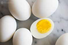 How to Make Perfect Hard Boiled Eggs! Tips for how to boil eggs so they come out perfectly every time. Perfect for #Easter or summer potlucks! #paleo On SimplyRecipes.com