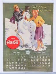 Coca-Cola Calendar January and February 1942