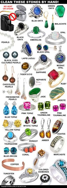 ► ► Gemstone Care and Cleaning Guide!