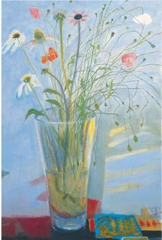 'Flowers in a Glass Vase' by Dame Elizabeth Blackadder (eb12)