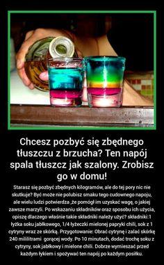 szafunia.pl - świat kobiet - moda, inspiracje, plotki, obrazki, cytaty Healthy Juice Drinks, Healthy Juices, Detox Drinks, Healthy Habits, Healthy Life, Healthy Food, Belly Pooch, Polish Recipes, Slow Food