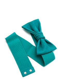 leatherette bow stretch belt $8.10