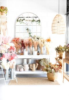 Beautiful dried and preserved florals to style your home. Dried Flower Arrangements, Dried Flowers, Flower Bar, Lane Furniture, Homewares Online, Flowers Online, Floral Style, Magnolia, Beautiful Flowers