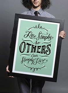 Sevenly, Live simply ... 18 x 24 inch Print #lettering