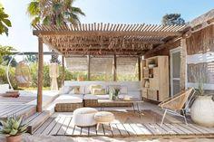 New Pergola Terrasse Fait Maison Ideas Casa Patio, Backyard Patio, Backyard Landscaping, Outdoor Rooms, Outdoor Living, Outdoor Furniture, Outdoor Areas, Wood Furniture, Antique Furniture