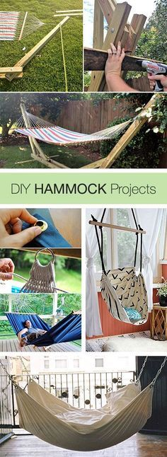 DIY Hammocks Projects and Tutorials! DIY Hammocks Projects and Tutorials! Source by sabagn The post DIY Hammocks Projects and Tutorials! appeared first on My Art My Home. Diy Projects To Try, Home Projects, Craft Projects, Diy Hammock, Hammock Ideas, Homemade Hammock, Room Hammock, Backyard Hammock, Outdoor Hammock