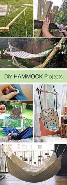 DIY Hammocks Projects and Tutorials! DIY Hammocks Projects and Tutorials! Source by sabagn The post DIY Hammocks Projects and Tutorials! appeared first on My Art My Home. Outdoor Projects, Wood Projects, Craft Projects, Backyard Projects, Diy Hammock, Hammock Ideas, Homemade Hammock, Room Hammock, Backyard Hammock