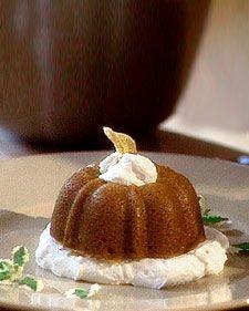 Ginger Pumpkin Pudding Cakes