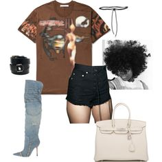 cold hearted killa by anelanaiara on Polyvore featuring polyvore, fashion, style, Ecru Lab, Dolce&Gabbana, Hermès, Aamaya by Priyanka, Givenchy and clothing