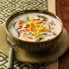 Creamy Asparagus Chowder Recipe I've been making this for years and it is absolutely awesome! When fresh asparagus isn't available, you can use frozen asparagus. Chowder Recipes, Soup Recipes, Great Recipes, Cooking Recipes, Favorite Recipes, Healthy Recipes, Chowder Soup, Healthy Meals, Corn Chowder