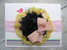 SALE-Baby Headband, Infant Headband, Shabby Chic Headband, Newborn Headband, Pink Lace Headband,Toddler Headbands, Girl Headband