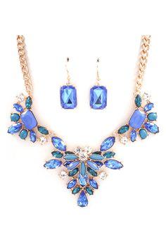 Millie Necklace Set in Graceful Blue