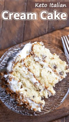 """Classic Italian Cream Cake goes low carb and keto! This rich layer cake is a truly special dessert recipe, and it's worth the time and effort. "" Keto Italian Cream Cake - You must try this recipe. Desserts Keto Italian Cream Cake - Recommended Tips Keto Desserts, Keto Snacks, Dessert Recipes, Breakfast Recipes, Keto Dessert Easy, Diet Breakfast, Appetizer Dessert, Breakfast Bars, Sweet Desserts"