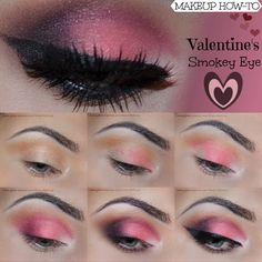 VISIT SITE FOR FULL TUTORIAL + PRODUCT LIST!  #ValentinesDay #Makeup #Tutorial  #Addictedtomakeup #eyemakeup #VdayMakeup #VDay #ValentinesMakeup  #MUA #bbloggers #youtubers #fbloggers #beauty #stepbystep #pink #romantic #girly #pinkmakeup #pinksmokey #smokey #smokeyeye #lashes #batalash #wingedliner