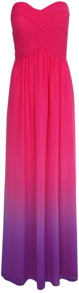 Jane Norman Ombre Pleated Maxi Dress in Pink   Lyst