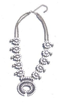 White Squash Blossom Necklace