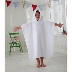 Poncho en tissu éponge 100% coton pour enfant