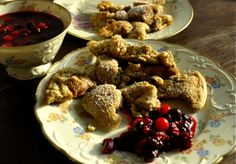 """""""Kaiserschmarrn"""" (Austrian pancakes) with berry compote"""