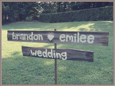 Rustic Wedding Sign Outdoor