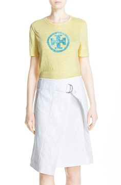 TORY BURCH 'Demi' Sequin Logo Tee. #toryburch #cloth #