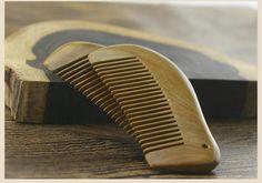 Real Green sandalwood comb quality pocket comb kids hair comb no static L10-04 #Sunflower
