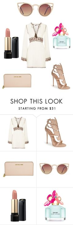 """""""Untitled #84"""" by kimberly58227 ❤ liked on Polyvore featuring Talitha, Giuseppe Zanotti, Michael Kors, Quay, Lancôme, Marc Jacobs, women's clothing, women, female and woman"""
