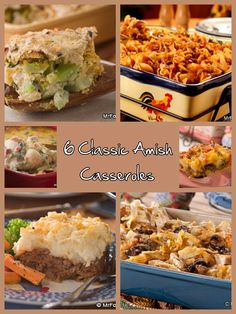 6 Classic Amish Casseroles - It's Amish cooking at its finest with these six easy casserole recipes.