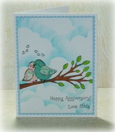 Sweet 'n Sassy Stamps used: Love Birds Stamps and dies