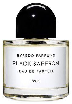 Black Saffron Eau de Parfum by BYREDO. Black Saffron Notes: Pomelo, saffron, juniper berries, black violet, accord cuir, cristal rose, blonde woods, raspberry, vetiver
