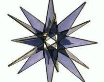 Punto 18 vetrate viola Star Moravia - arte del vetro di Joe - Betlemme