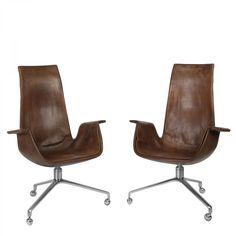 Fabricius & Kastholm Pair of Tulip chairs