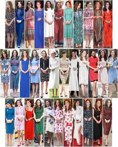 Kate's new dresses debuted in 2016. remember you can zoom in to see them better! The Duchess of Cambridge has been named as one of the best dressed women in the world. Editors of Harper's Bazaar put together a list of 150 of the most (known) stylish women around the world for the magazine's 150th anniversary. Kate comes in at number 28 - you can see the full list in the link in my bio. Editors voted for their favourites, which included: Rihanna, Sarah Jessica Parker, Angelina Jolie, Alexa...