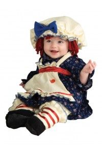 Halloween Child Ragamuffin Dolly Infant Costume 6 12 Months Raggedy Ann New Cute Baby Halloween Costumes, Toddler Costumes, Girl Costumes, Costume Ideas, Halloween Ideas, Halloween 2017, Infant Halloween, Children Costumes, Happy Halloween
