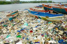 The majority of the waste on Mumbai's Versova beach was plastic, washed in from…