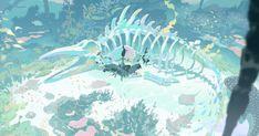 Art And Illustration, Illustrations, Fantasy Kunst, Fantasy Art, Anime Kunst, Anime Art, Pretty Art, Cute Art, Ocean Drawing