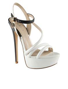 ALDO NIB Nomble White Platform High Heel Sandals 5.5 inch heel 7 / 37.5 $100 New #Aldo #Strappy eBay US$62.95 = AUD$70.08 postage USD$25.43 =AUD$27.01