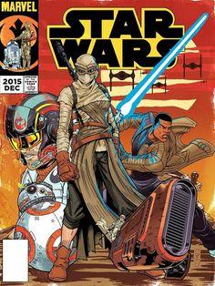 Cubiertas artísticas de cómic de Star Wars: The Force Awakens