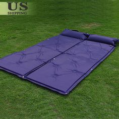 2 X Self Inflating Mattress Pad Pillow Camping Hiking Picnic Outing Sleeping Napping. It inflates itself to maximum by unfolding the pad and opening the air tap, then tighten the tap. 2 x Connectable Self-Inflating Sleeping Pad.
