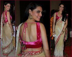 Bollywood Sarees at Suraj Godambe Wedding | Saree Blouse Patterns