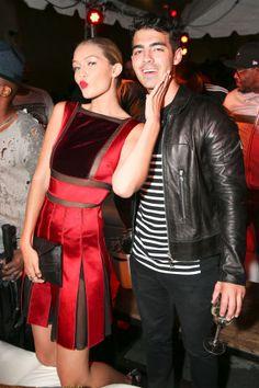 Gigi Hadid and Joe Jonas make an appearance at Rihanna's Roc Nation x Puma Block Party