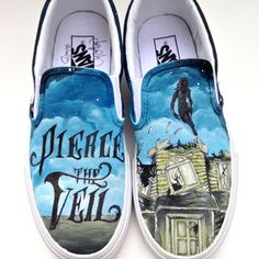 Shop Painted Vans Shoes on Wanelo